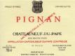 Château Rayas Châteauneuf-du-Pape Pignan Reserve - label
