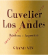 Cuvelier de los Andes Grand Vin - label