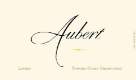 Aubert Wines Lauren Vineyard Chardonnay - label