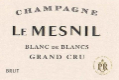 Le Mesnil Blanc de Blancs Grand Cru - label