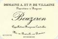 Domaine A. & P. de Villaine Bouzeron  - label
