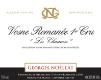 Domaine Georges Noëllat Vosne-Romanée Premier Cru Les Chaumes - label