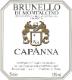 Capanna Brunello di Montalcino  - label