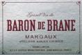 Château Brane-Cantenac Baron de Brane - label