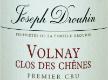 Maison Joseph Drouhin Volnay Premier Cru Clos des Chênes - label