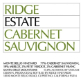 Ridge Vineyards Estate Cabernet Sauvignon - label
