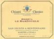 San Giusto a Rentennano Chianti Classico Le Baroncole Riserva - label