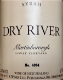 Dry River Syrah Lovat - label