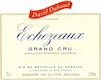 David Duband Echezeaux Grand Cru  - label