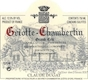 Domaine Claude Dugat Griotte-Chambertin Grand Cru  - label