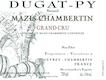 Domaine Bernard Dugat-Py Mazis-Chambertin Grand Cru Vieilles Vignes - label