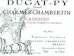 Domaine Bernard Dugat-Py Charmes-Chambertin Grand Cru  - label