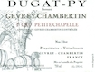 Domaine Bernard Dugat-Py Gevrey-Chambertin Premier Cru Petite Chapelle - label