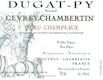 Domaine Bernard Dugat-Py Gevrey-Chambertin Premier Cru Champeaux Vieilles Vignes - label