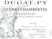 Domaine Bernard Dugat-Py Gevrey-Chambertin Premier Cru  - label