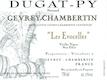 Domaine Bernard Dugat-Py Gevrey-Chambertin Les Evocelles Vieilles vignes - label