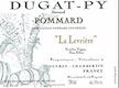 Domaine Bernard Dugat-Py Pommard Vieilles vignes - label