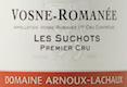 Domaine Arnoux-Lachaux (ex Robert Arnoux) Vosne-Romanée Premier Cru Les Suchots - label
