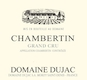 Domaine Dujac Chambertin Grand Cru  - label