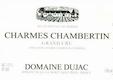 Domaine Dujac Charmes-Chambertin Grand Cru  - label