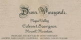 Dunn Vineyards Howell Mountain Cabernet Sauvignon - label