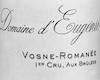 Domaine d'Eugénie (ex René Engel) Vosne-Romanée Premier Cru Les Brûlées - label
