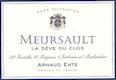 Arnaud Ente Meursault La Sève du Clos - label