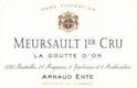 Arnaud Ente Meursault Premier Cru Les Gouttes d'Or - label