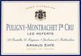Arnaud Ente Puligny-Montrachet Premier Cru Les Referts - label