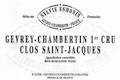 Domaine Sylvie Esmonin Gevrey-Chambertin Premier Cru Clos Saint-Jacques - label
