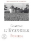 Château l'Evangile  - label