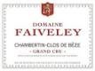 Domaine Faiveley Chambertin Grand Cru  - label