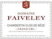 Domaine Faiveley Chambertin Clos de Bèze Grand Cru  - label