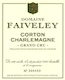 Domaine Faiveley Corton-Charlemagne Grand Cru  - label