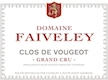 Domaine Faiveley Clos de Vougeot Grand Cru  - label