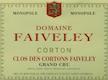 Domaine Faiveley Corton Grand Cru Clos Des Cortons - label