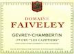 Domaine Faiveley Gevrey-Chambertin Premier Cru Les Cazetiers - label