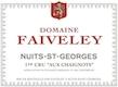 Domaine Faiveley Nuits-Saint-Georges Premier Cru Les Chaignots - label