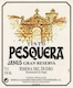 Bodegas Tinto Pesquera Janus Gran Reserva - label