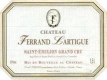 Ferrand Lartigue  Grand Cru - label