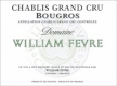 Domaine William Fèvre Chablis Grand Cru Bougros Côte Bouguerots - label