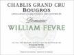 Domaine William Fèvre Chablis Grand Cru Bougros Côte Bouguerots - label