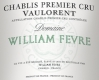 Domaine William Fèvre Chablis Premier Cru Vaulorent - label