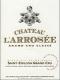 Château l'Arrosée  Grand Cru Classé - label