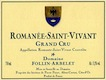Domaine Follin-Arbelet Romanée-Saint-Vivant Grand Cru  - label