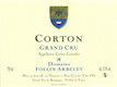 Domaine Follin-Arbelet Corton Grand Cru  - label
