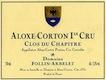 Domaine Follin-Arbelet Aloxe-Corton Premier Cru Clos du Chapitre - label