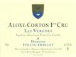 Domaine Follin-Arbelet Aloxe-Corton Premier Cru Les Vercots - label