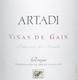 Artadi Rioja Viñas de Gain - label