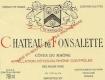 Château de Fonsalette Côte du Rhône  - label